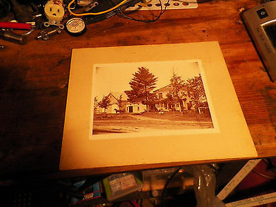 vintage Old Photograph Cabinet Photo  House Picture with horse and buggy