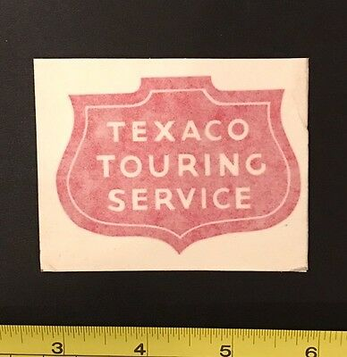 Vintage TEXACO Touring Service Gas Station Window Decal - Unused