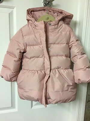 Gap Baby Pink Quilted Hooded Jacket Toddler Girl Size 3T