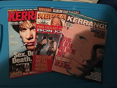 Bon Jovi Magazine Lot Rock Metal UK Kerrang!