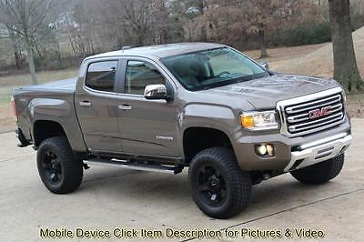 2016 GMC Canyon SLT ROUGH COUNTRY SUSPENSION LIFT 16 GMC Canyon SLT Crew Cab 4X4 Leather 6 Inch Lift Navigation XD wheels Colorado