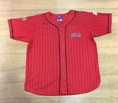 Chicago Bulls - Size XL - Vintage Starter NBA Baseball Jersey Style / Top