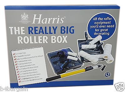 Harris The Really Big Roller Paint Box Set Paint Roller, Pole Sleeves Tray