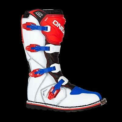 2017 Oneal Motocross/Offroad Rider Adult Boots RED WHITE BLUE SIZE 10