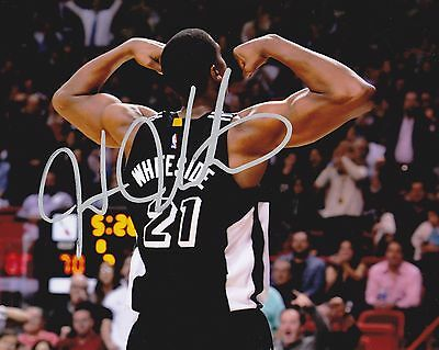 Miami Heat Hassan Whiteside Autographed 8x10 Photo (Reproduction)