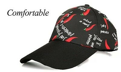 Free shipping Chef Work Cool Vent Collectiob Black Chili Adjust Baseball Cap Hat