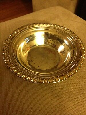 "Vintage Wm Rogers 73-27 Silverplate 6-1/2"" Round Dish/bowl"