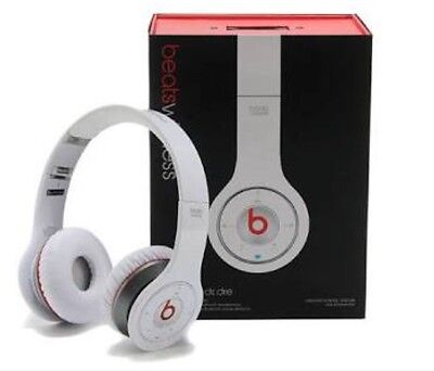 Beats by Dr Dre Solo Over-Ear Wireless Headphones (White)