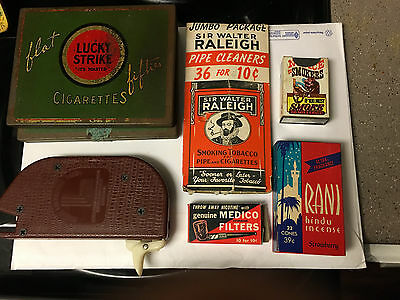 Vintage Lot Of (7) Old Various Tobacco Items Filters, Cleaners Makers And More