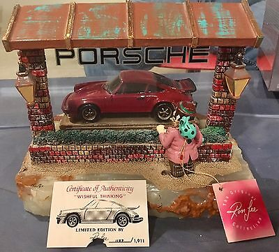 Ron Lee WISHFUL THINKING Autographed Porsche In Window Authentic Signed Numbered