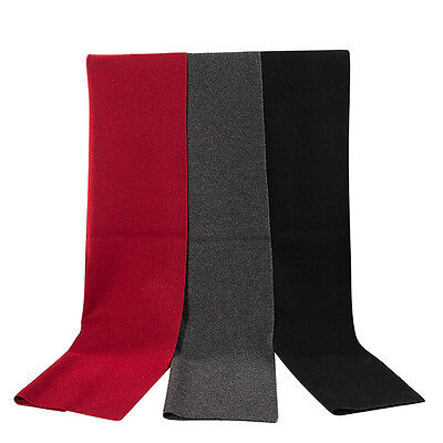 Men's Fashion Cashmere Soft Warm Wrap Neck Scarf Scarves Solid Color 180cm Long