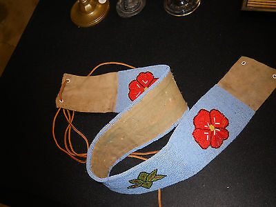 Early 1900s Native American Fully Beaded Belt.  It is Crow. REALLY NICE!