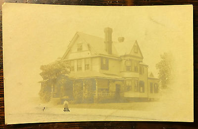 NJ New Jersey; Spring Lake, Madison Ave. RPPC House with Plan Written on Back