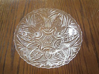 Vintage Anchor Hocking Stars And Bars Thousand Line Three Toed Bowl