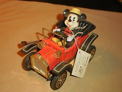 1981 Masudaya Minnie Mouse 1908 Car Lever Action Plastic & Tin Toy W/tag