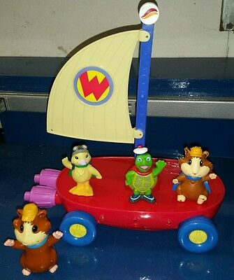Wonder Pets Lights and Sounds Fly Boat Toy With 4 Figures Lenny(2) Tuck MingMing