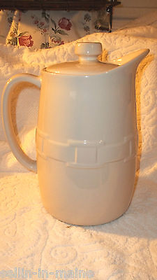 NEW Longaberger pottery Ivory Woven Traditions Coffee Carafe