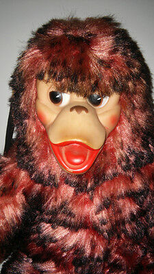 Vintage Gund Swedlin Rubber Faced Monkey Multi Color Fur