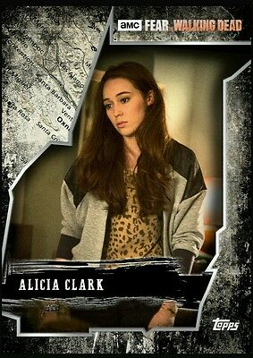 Topps Walking Dead Card Trader El Sereno complete white set with Alicia award