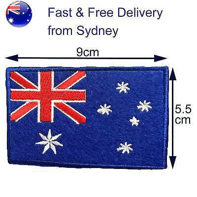 Australia flag embroided iron on patch -Fast delivery for Aussie Southern Cross
