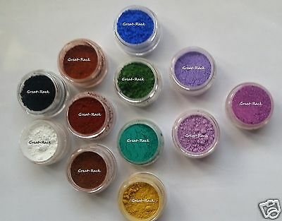BAGGIES LOT of 12 1g ALL MATTE SAMPLE Soap Pigment Cosmetic Red Blue Lavender in