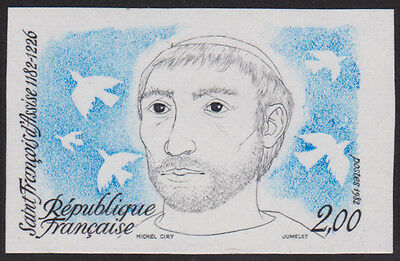 France 1982 800th Bday St. Francis of Assisi 2fr Sc1818 Imperf Color Proof MNH
