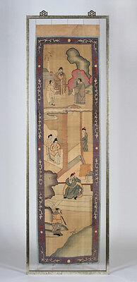 Large & Early Chinese Silk Kesi Panel - Museum Quality - Qing Dynasty - Framed