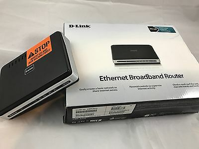D-Link EBR-2310 4-Port 10/100 Wired Router TESTED and WORKING W/BOX