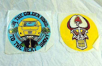 Vintage Grateful Dead Stickers circa 1987- 1991 Lot of 2