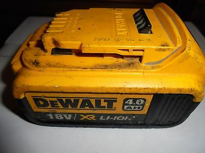 DeWalt 18V Lithium (Li-Ion) high capacity 4.0Ah Battery - GENUINE OEM