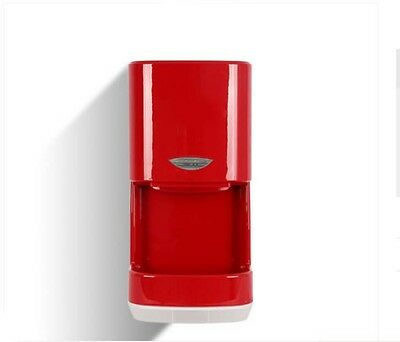 New Red Plastic Commercial Wall Mounted Automatic Induction Hand Dryer Machine