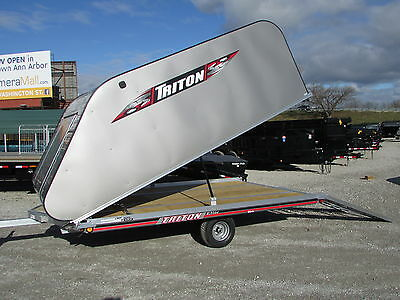 New Triton 12' Snowmobile Trailer On/off Elite Model *on Sale Now * Dr Trailer