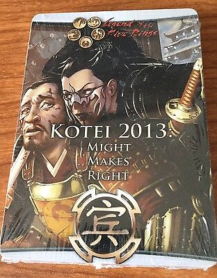 L5R Legend of the Five Rings 2013 Kotei Promo Pack sealed new
