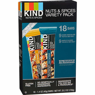 Kind Nuts & Spices Variety Pack 18 Bars 'Open Box' Sealed Bars BB 5/2017
