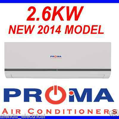 BRAND NEW PROMA 2.6kw REVERSE CYCLE SPLIT SYSTEM AIR CONDITIONER