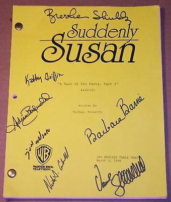 Suddenly Susan TV Script signed by cast Brooke Shields,Judd Nelson,Kathy Griffin
