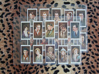 Cigarette Card : Wills : Cinema Stars (1st Series) (1928) : Full Set