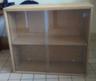 Double Sliding Glass Door Home or Office Display Cabinet
