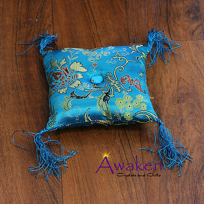 AQUA 14 x 14cm Square Cushion for Tibetan Singing Bowl