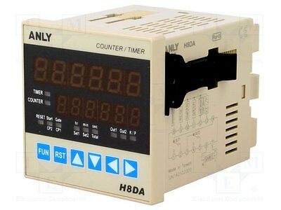 1 pc Counter: electronical; Display:2x LED; Type of inputs: NPN, PNP