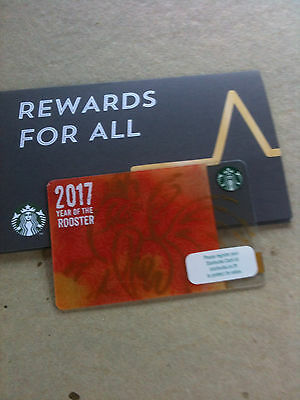 Thailand Starbucks card  6133 2017 year of the rooster with folder