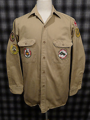 Vintage BSA Shirt 1950s SAN MATEO COUNCIL Patches PENNEYS SANFORIZED ARMY TWILL