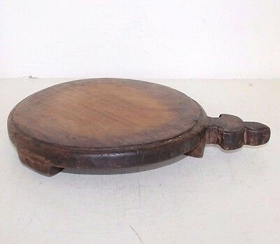 1900's Old Antique Beautiful Handmade Wooden Chapati Maker Board / Chaklota #850