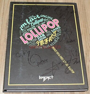IMFACT LOLLIPOP 1st Single REAL SIGNED AUTOGRAPHED PROMO CD + PHOTOCARD