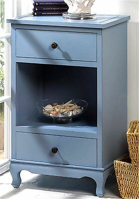 """Somerset Blue 29"""" Side, End, Accent Or Night Table * 2 Drawers & Shelf * Nib"""