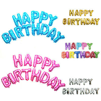 """lovely """"HAPPY BIRTHDAY"""" Letters Foil Balloons For Birthday Party Decoration"""