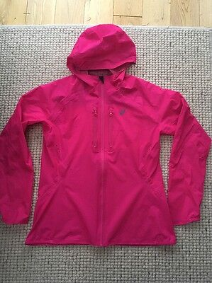 Immaculate Asics Womens Elite Waterproof Running Jacket L 12 14 Cost £120