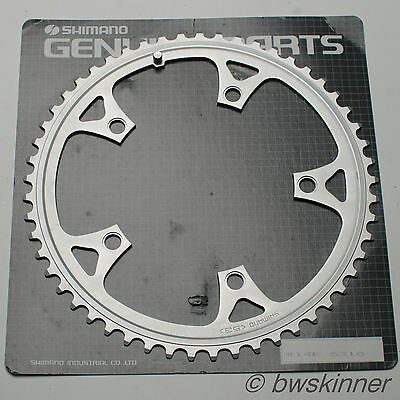 Shimano 53T 130mm BCD Chainring. Alloy. NOS.