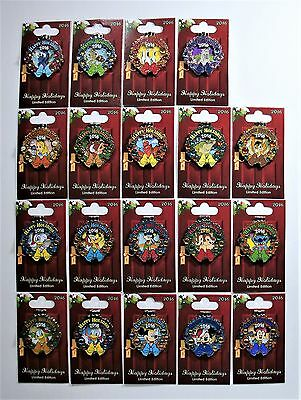 Disney World Holiday Wreaths Resort 2016 Collection Complete 19 Pin Set NEW CUTE