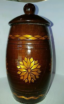 wooden lacquered jar made in the USSR
